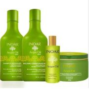 KIT INOAR ARGAN SHAMPOO 250ml + BÁLSAMO CONDICIONADOR 250ml + MÁSCARA 250g + ÓLEO DE ARGAN FINALIZADOR 60ml