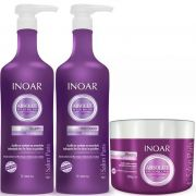 KIT INOAR ABSOLUT SPEED BLOND SHAMPOO 1L + CONDICIONADOR 1L + MÁSCARA DESAMARELADORA 500G