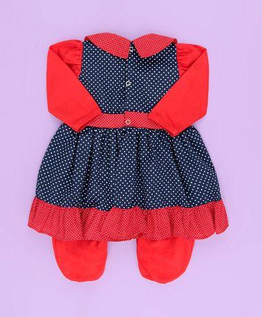 Saida Maternidade Vestido - Tecido Malha - Vermelho - P