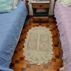 Tapete de Crochê Coração Especial - 107cm x 58cm