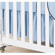 Babado Para Ber�o 03 Lados - Cole��o Urso Piratinha - 100% Algod�o - Azul - Paulo Cezar Enxovais