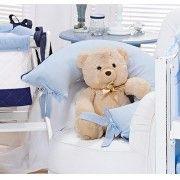 Almofada Amamenta��o - Cole��o Urso Piratinha - 100% Algod�o - Siliconado - Azul - Paulo Cezar Enxovais