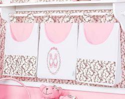 Porta Fraldas de Varão - Coleção Balerina - Rosa