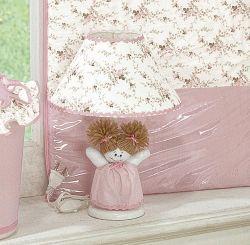 Abajur Enfeitado - Coleção Bella - Rosa