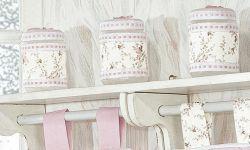Conjunto de 03 Potes Enfeitadas - Coleção Bella - Rosa