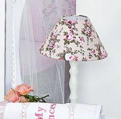 Abajur Enfeitado de Madeira - Coleção My Princess - Rosa