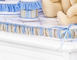 Trocador Avulso de Espuma Emplastificado - Coleção Théo - 100% Algodão - Azul