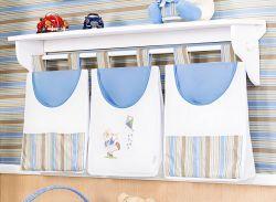 Porta Fraldas de Varão 03 Peças - Coleção Théo - Azul