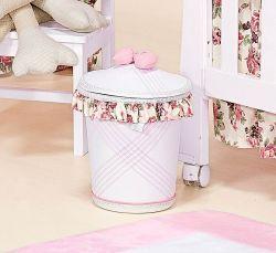 Lixeira Enfeitada - Coleção Princess - Rosa