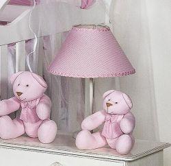 Abajur Enfeitado - Coleção Luxo - Rosa