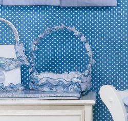 Cesta Fármacia Enfeitada - Coleção Luxo - Azul