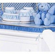 Trocador Avulso de Espuma Emplastificado - Cole��o Little Bears - 100% Algod�o - Azul - Paulo Cezar Enxovais