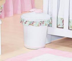 Lixeira Enfeitada - Coleção Candy - Rosa