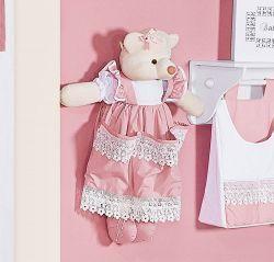Porta Fraldas Boneco - Coleção Belle Rosé - 70cm alt. - Rosé