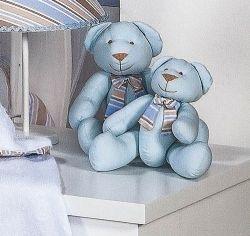 Enfeite Decorativo ´Urso P´ - Coleção Baby Kids - 25cm - Azul