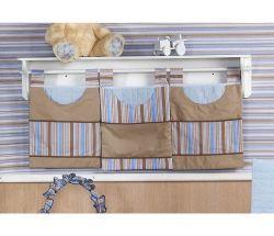 Porta Fraldas de Varão 03 Peças - Coleção Baby Kids - Azul