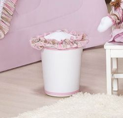 Lixeira Enfeitada - Coleção Baby Kids - Rosa