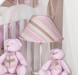 Abajur Enfeitado - Coleção Baby Kids - Rosa