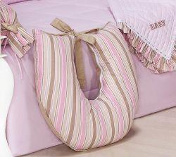 Apoio para Amamentar - Coleção Baby Kids - 100% Algodão - Siliconado - Rosa