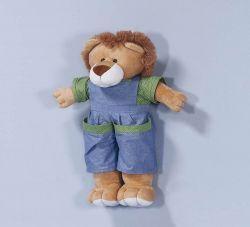 Porta Fraldas Urso - Coleção Trenzinho - 70cm alt. Aprox. - Azul