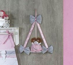 Enfeite de Porta 100% Algodão - Coleção Princesa Kids - Rosa