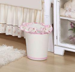 Lixeira Enfeitada - Coleção Brilhante - Rosa