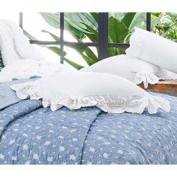 Almofada Bordada Algadian 100% Algodão 400 Fios - Fio Egípcio - Branco