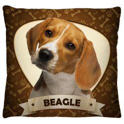 Capa para Almofada Estampada Tecido Microfibra - Beagle A247