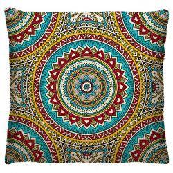 Capa para Almofada Estampada Colorida Tecido Microfibra - Mandala A185