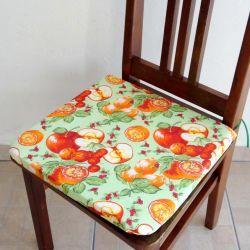 Assento para Cadeira Estampado - Maçã Verde