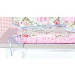 Trocador Avulso de Espuma Plastificado Coleção Garden Flowers Rosa