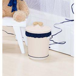 Lixeira Enfeitada p/ Quarto de Bebê - Coleção Bear Marinho