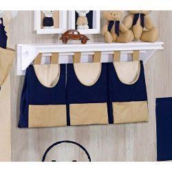 Porta Fraldas de Varão - Coleção Bear Marinho