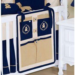 Porta Objetos para Berço de Bebê - Coleção Bear Marinho