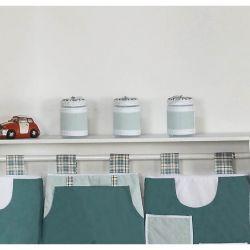 Conjunto de 03 Potes p/ Quarto de Bebê - Coleção Brinquedos Baby