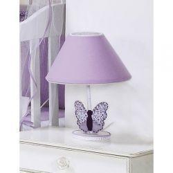 Kit Acesórios Enfeitados c/ 6 Peças - Coleção Butterfly Baby - Abajur, Cesta e Móbile