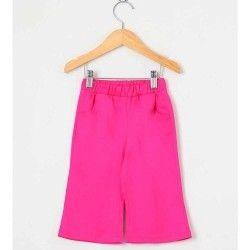 Calça Lisa Longa 01 Peça Com Bolso Frontal - Pink Tamanho 02