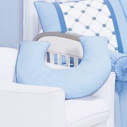 Apoio para Amamentar Bebê - Coleção Classic Azul