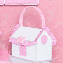 Farmacinha Enfeitada p/ Quarto de Bebê - Coleção Classic Rosa