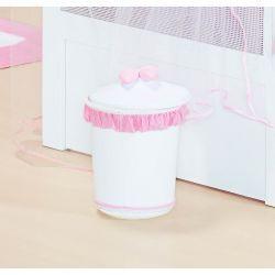 Lixeira Enfeitada p/ Quarto de Bebê - Coleção Classic Rosa