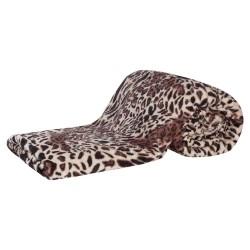 Cobertor Solteiro Manta de Microfibra Safari 01 Peça (Toque Aveludado) - Cor 03 Caqui
