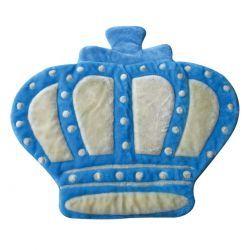 Tapete para Quarto de Bebê Coroa 1,10m x 1,00m Azul - Antialérgico