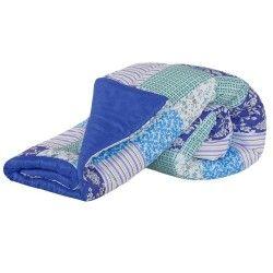 Edredom Casal Padrão Lauri 01 Peça Dupla Face Estampado - Cor 08 Azul Royal