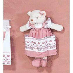 Porta Fraldas Ursa - Coleção Elegance Rosé