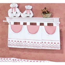 Porta Fraldas de Varão - Coleção Elegance Rosé