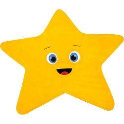 Tapete Infantil de Pelúcia Big 1,22mx1,18m Estrela Amarela