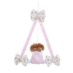 Enfeite de Porta para Quarto de Bebê Coleção Baby Florence - Rosa