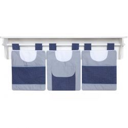 Porta Fraldas de Varão para Quarto Bebê Coleção Futebol - Azul
