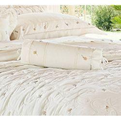 Rolinho Bordado Giardini - 100% Algodão 230 Fios Acetinado - Palha