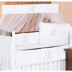 Kit Berço 08 Peças Coleção Imperialle Branco 100% Algodão